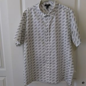 Forever 21 short sleeve button down shirt